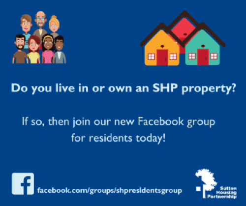 image promoting the new SHP Facebook Group