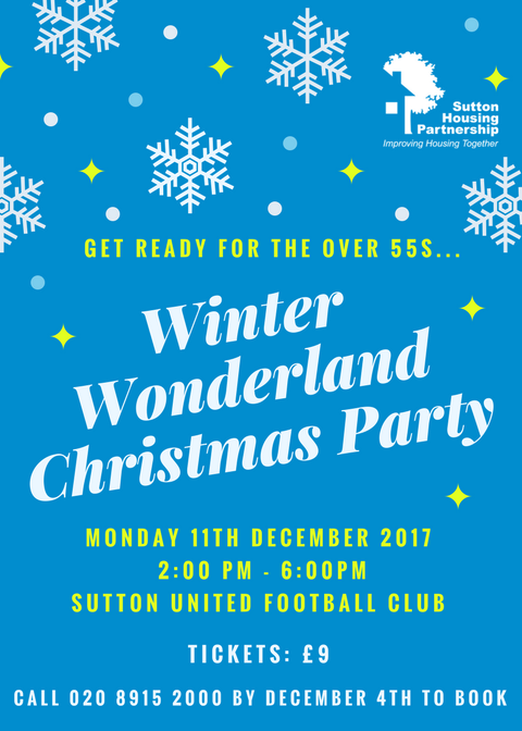 Winter wonderland christmas party 2017 poster